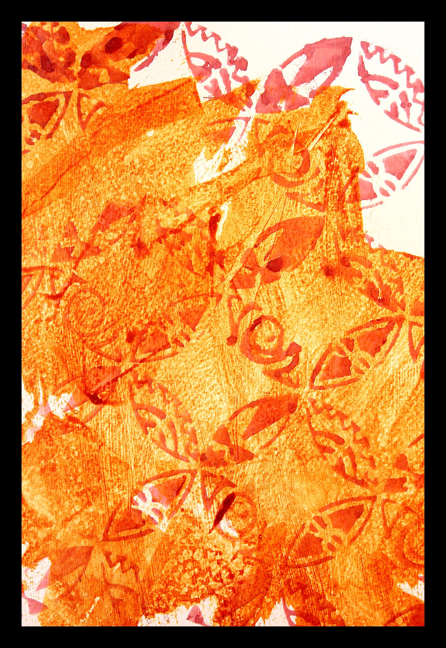 Bright Orange Fabric Stencil Paint Paint Simply Spray