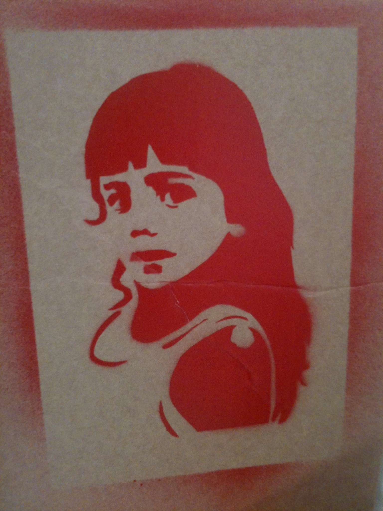 Red Fabric Stencil Paint Paint Quick Easy Effective