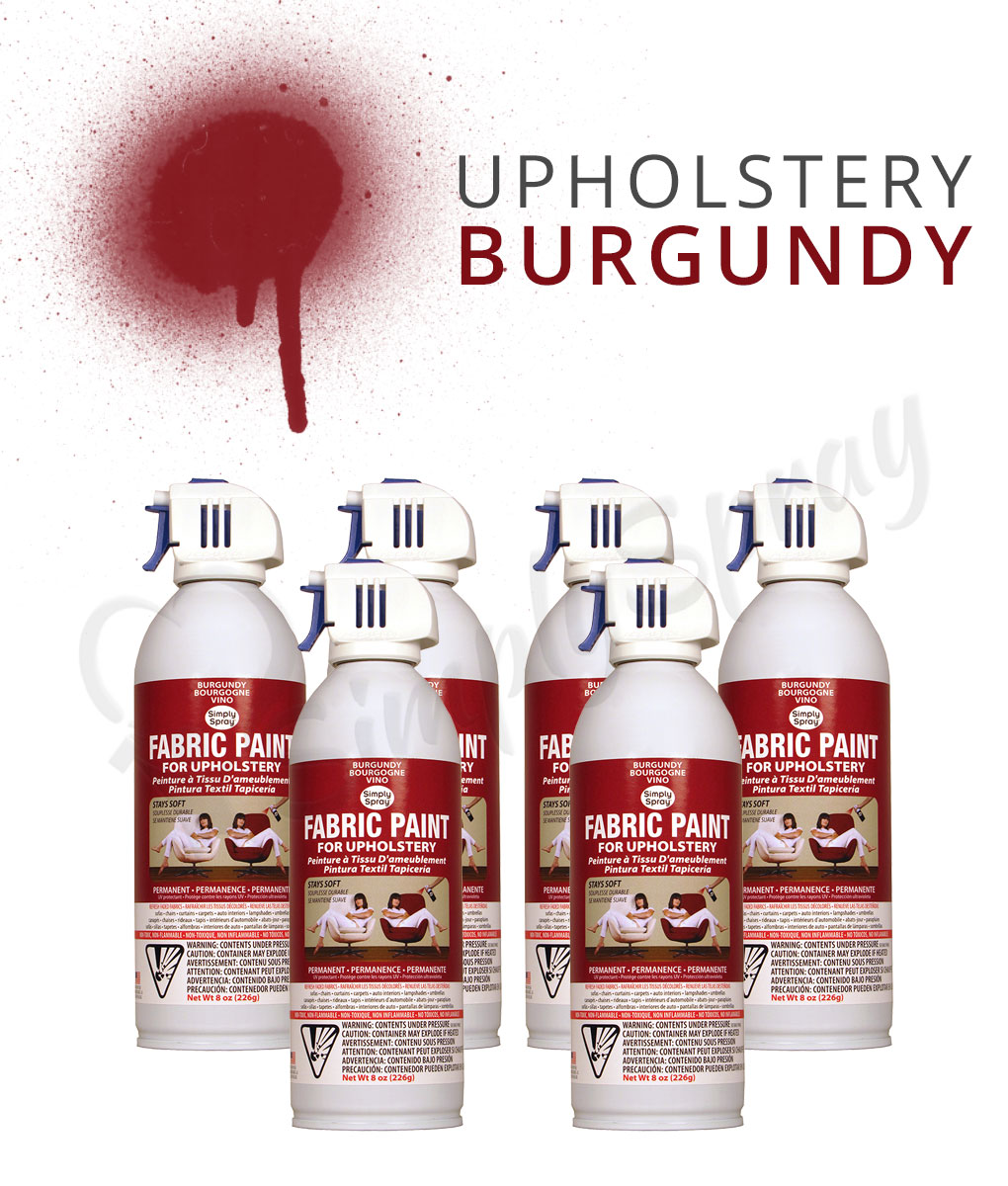 Burgundy upholstery paint spray multipack fabric spray Fabric spray paint for car interior