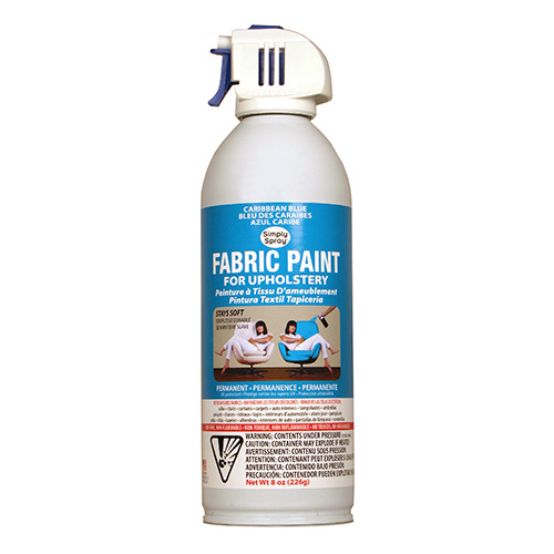 Caribbean Blue Fabric Dye Spray Paint Quick Easy Effective