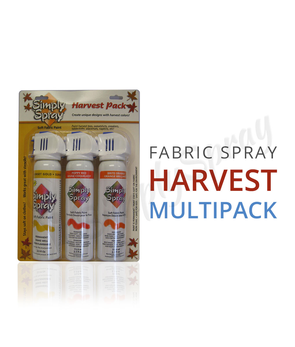 harvest fabric spray paint multipack simply spray. Black Bedroom Furniture Sets. Home Design Ideas