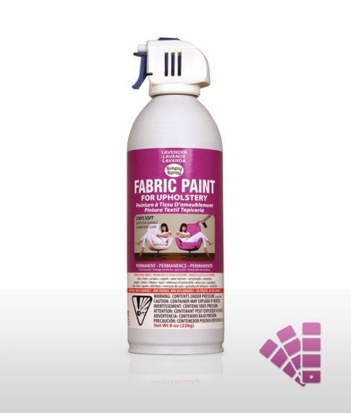 Lavender fabric dye spray paint quick easy effective Fabric spray paint for car interior