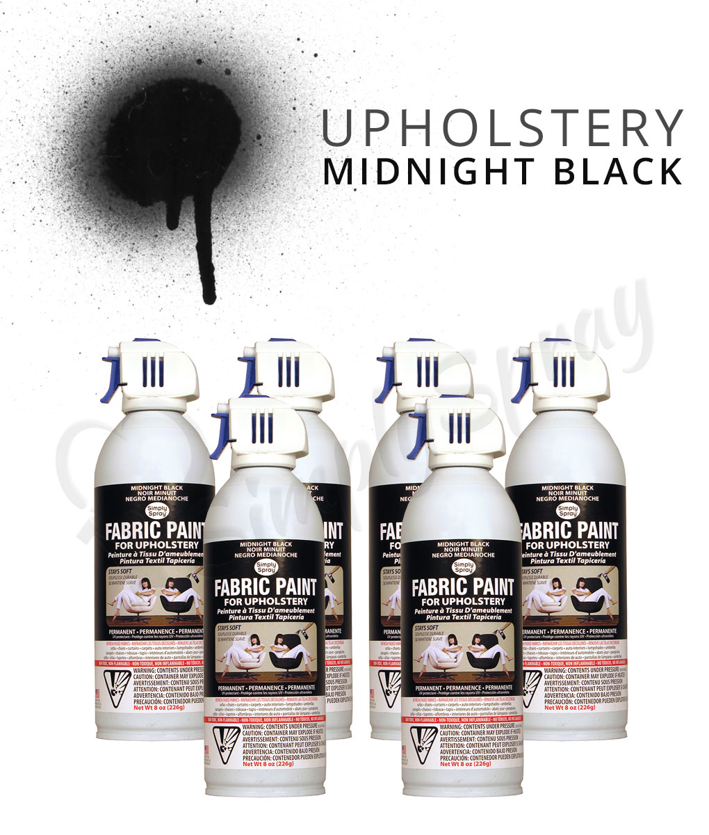 black upholstery paint spray multipack fabric spray. Black Bedroom Furniture Sets. Home Design Ideas