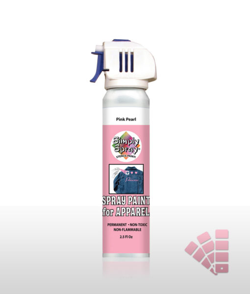 Pink Pearlescent Fabric Stencil Paint Paint Simply Spray