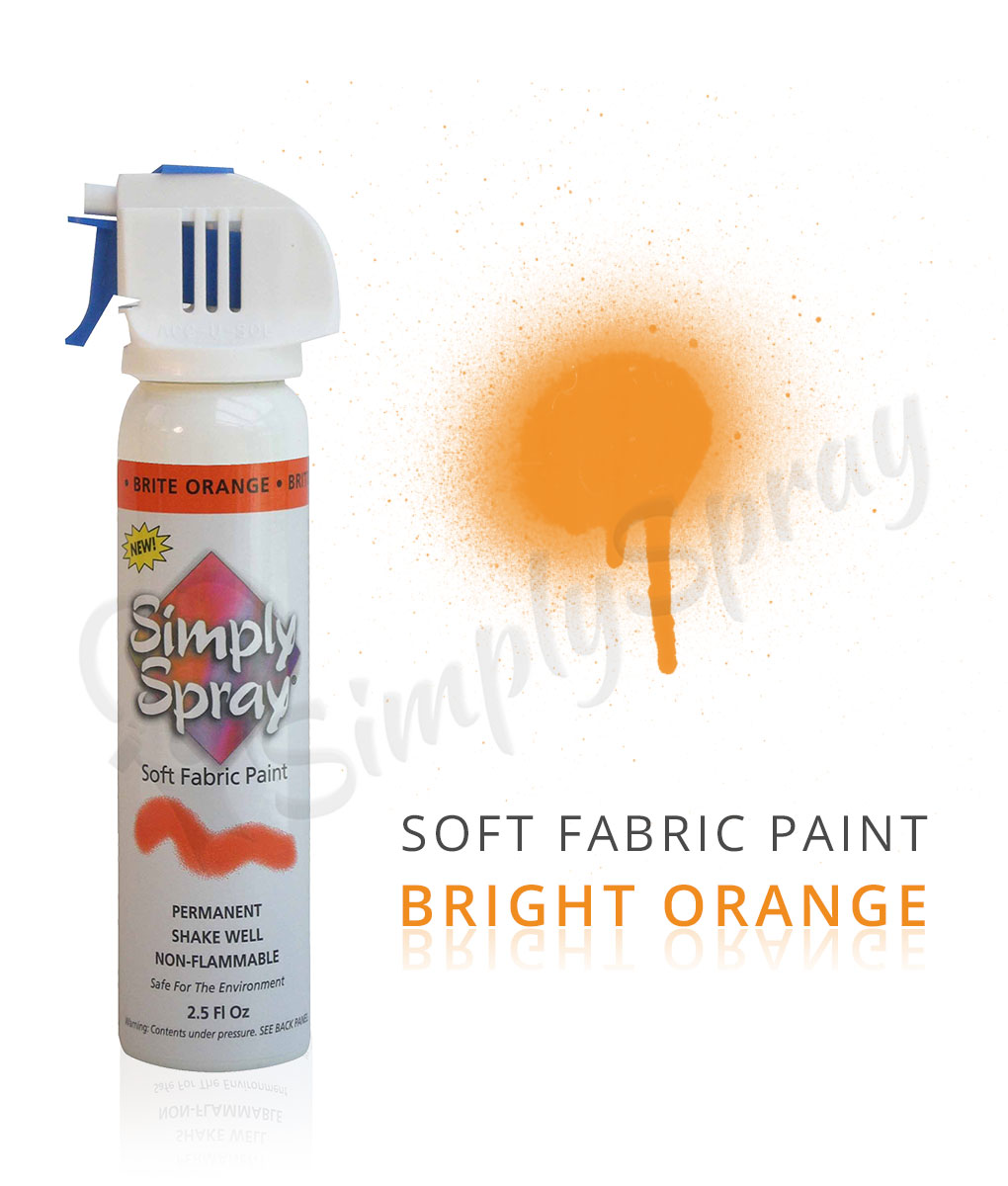 orange fabric paint spray dye vibrant easy soft. Black Bedroom Furniture Sets. Home Design Ideas