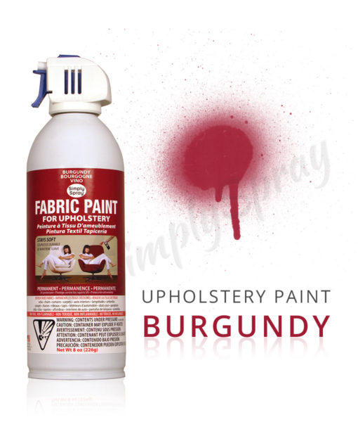 Burgundy Fabric Dye Spray Paint Quick Easy Effective