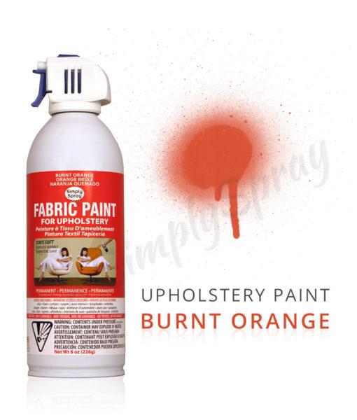 Burnt Orange Fabric Dye Spray Paint Quick Easy Effective