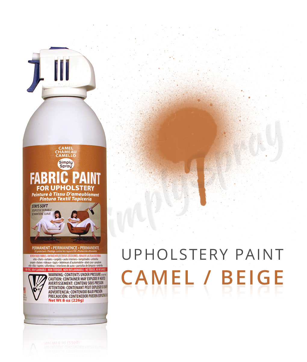 camel beige fabric dye spray paint quick easy effective. Black Bedroom Furniture Sets. Home Design Ideas