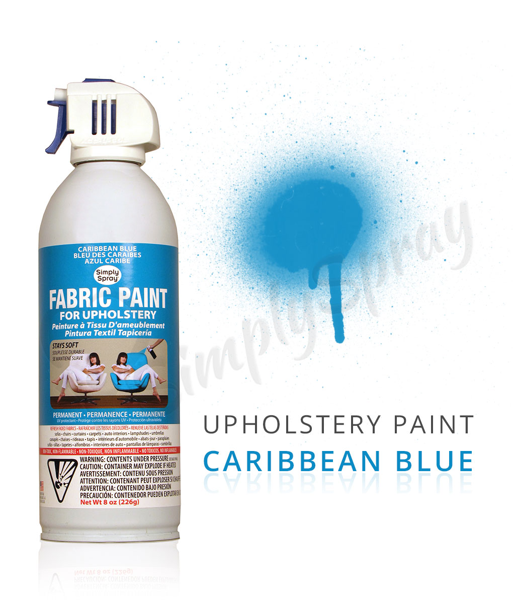 caribbean blue fabric dye spray paint quick easy effective. Black Bedroom Furniture Sets. Home Design Ideas
