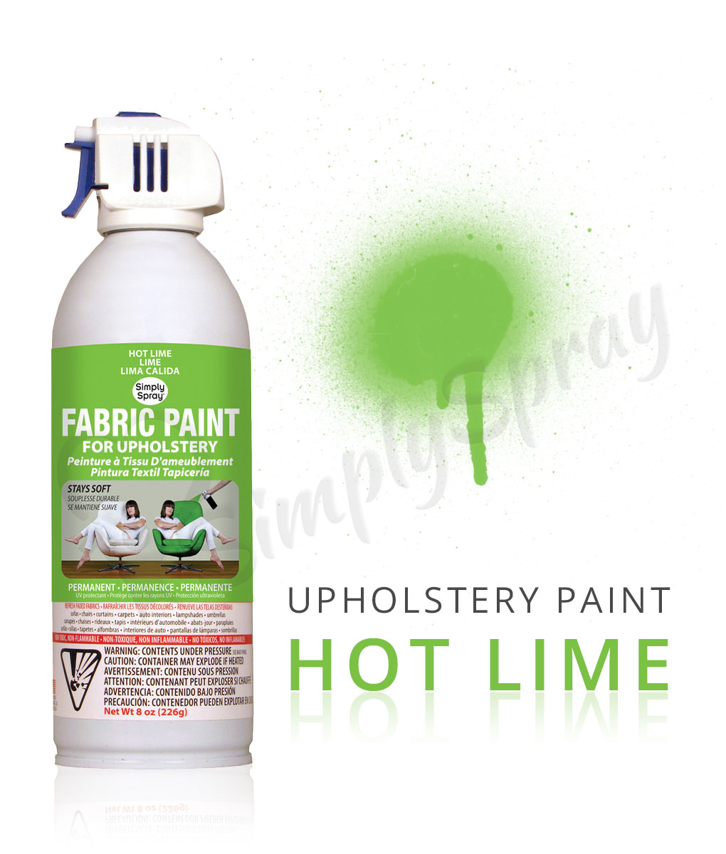 hot lime fabric dye spray paint quick easy effective. Black Bedroom Furniture Sets. Home Design Ideas