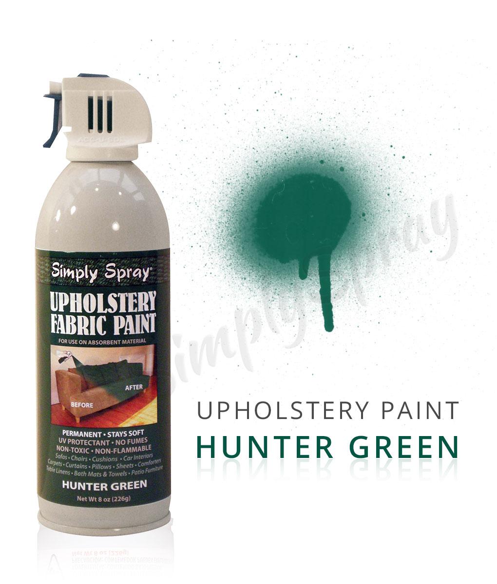 Hunter Green Fabric Dye Spray Paint Quick Easy Effective