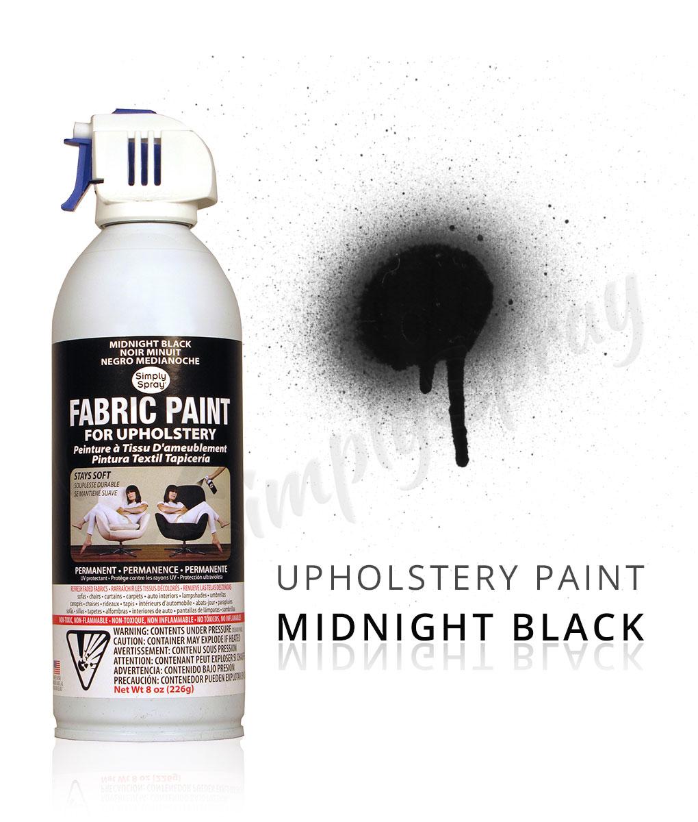 black fabric spray paint