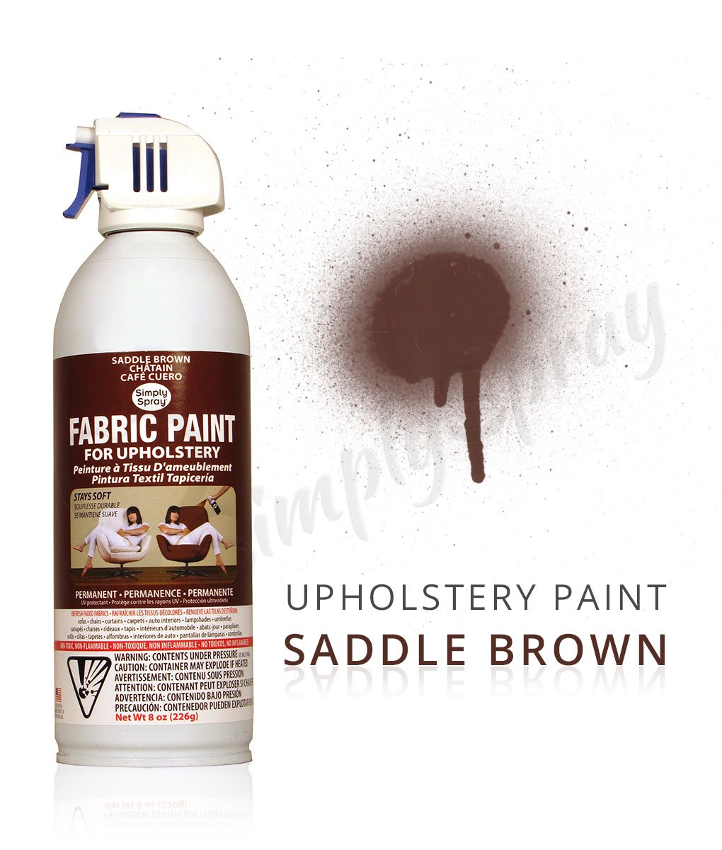 Saddle Brown Fabric Dye Spray Paint Quick Easy Effective